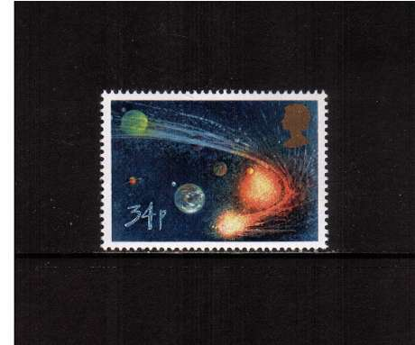 view larger image for SG 1315 (1986) - 34p - Halley's Comet  - Comet orbiting Sun and Planets