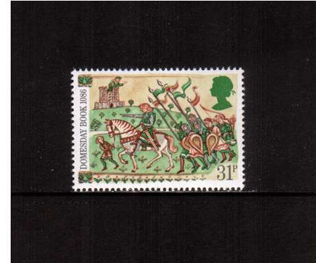 view larger image for SG 1326 (1986) - 31p - Domesday Book  - Knight and Retainers