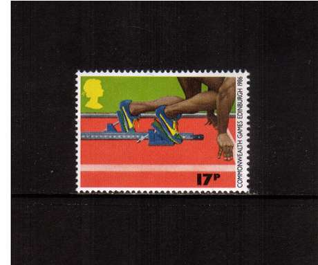 view larger image for SG 1328 (1986) - 17p - Commonwealth Games  - Athletics