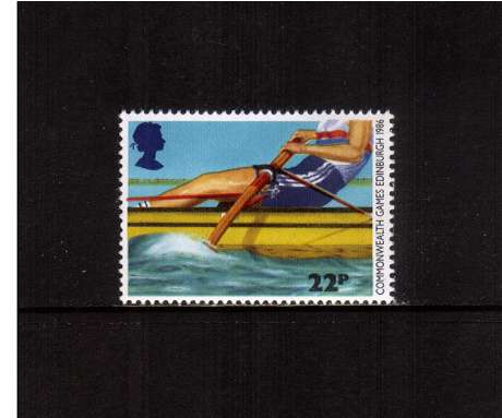 view larger image for SG 1329 (1986) - 22p - Commonwealth Games  - Rowing