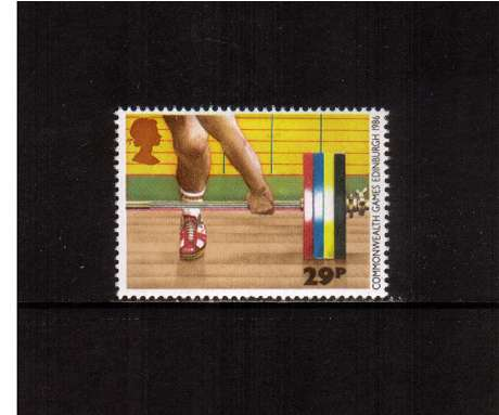 view larger image for SG 1330 (1986) - 29p - Commonwealth Games  - Weightlifting