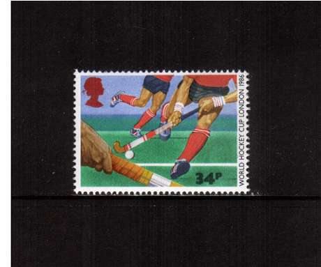 view larger image for SG 1332 (1986) - 34p - Commonwealth Games  - Hockey