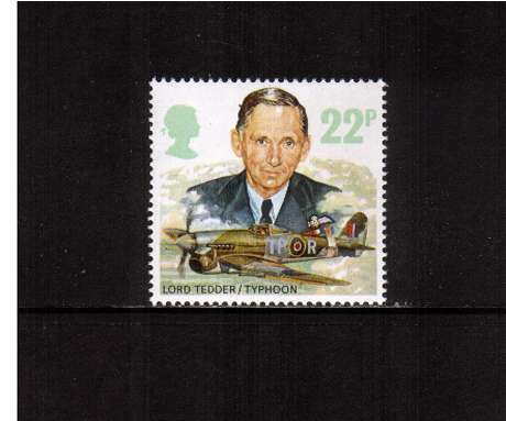 view larger image for SG 1337 (1986) - 22p - History of Royal Air Force   - Lord Tedder