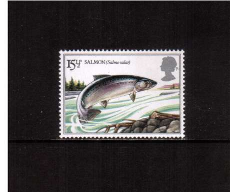 view larger image for SG 1207 (1983) - 15�p - British River Fishes - Atlantic Salmon