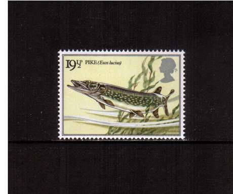 view larger image for SG 1208 (1983) - 19�p - British River Fishes - Northern Pike