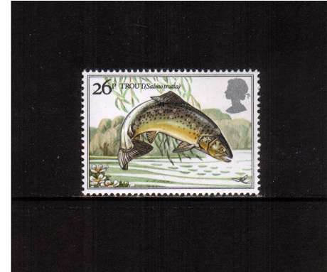 view larger image for SG 1209 (1983) - 26p - British River Fishes - Brown Trout