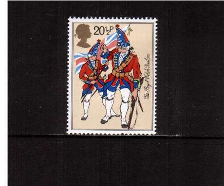 view larger image for SG 1219 (1983) - 20�p - British Army Uniforms - Royal Welch Fusilliers 