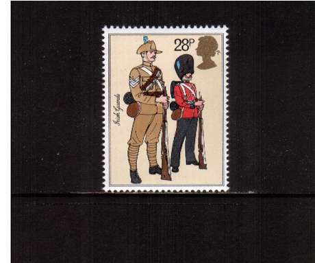 view larger image for SG 1221 (1983) - 28p - British Army Uniforms - Irish Guards
