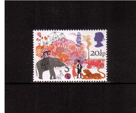 view larger image for SG 1228 (1983) - 20�p - British Fairs  - Big Wheel, Performing Animals