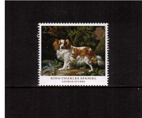 view larger image for SG 1531 (1991) - 22p - Dogs, paintings by Stubbs  - 'King Charles Spaniel'
