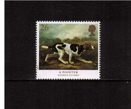 view larger image for SG 1532 (1991) - 26p - Dogs, paintings by Stubbs  - 'A Pointer'