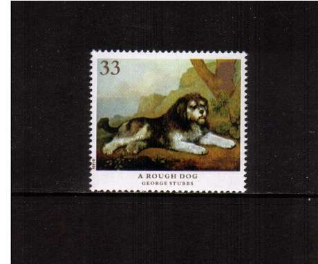 view larger image for SG 1534 (1991) - 33p - Dogs, paintings by Stubbs  - 'A Rough Dog' 