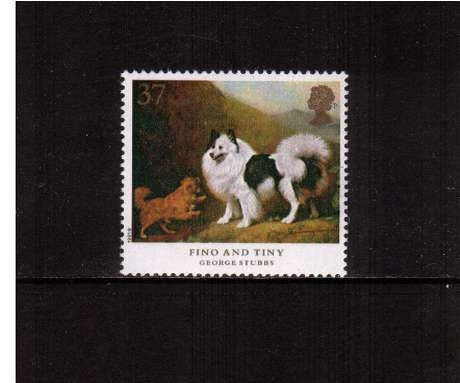view larger image for SG 1535 (1991) - 37p - Dogs, paintings by Stubbs  - 'Fino and Tiny' 