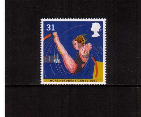 view larger image for SG 1566 (1991) - 31p -  	World Student Games, Sheffield - Diving