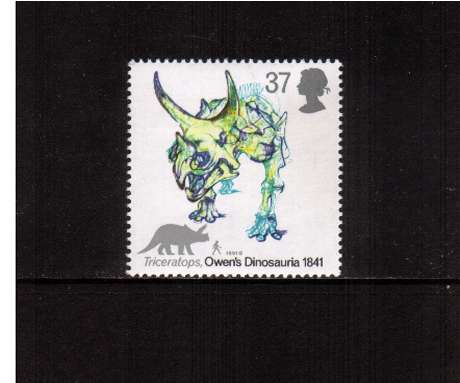 view larger image for SG 1577 (1991) - 37p -  Dinosaurs - Triceratops