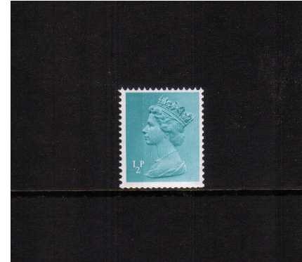 view larger image for SG X842 (1972) - �p Turquoise- Blue - Left Band with trimmed perforations