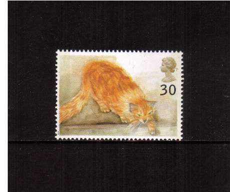 view larger image for SG 1850 (1995) - 30p - Cats -    Ginger Cat 