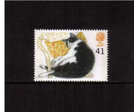 view larger image for SG 1852 (1995) - 41p - Cats -    Black & White Cat 