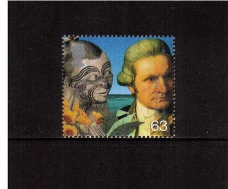 view larger image for SG 2076 (1999) - 63p - Millennium Series - Travellers Tale - Captain Cook