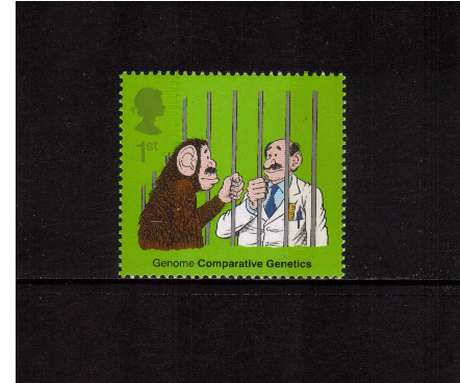 view larger image for SG 2344 (2003) - 1st  - Discovery of DNA - Ape with Scientist