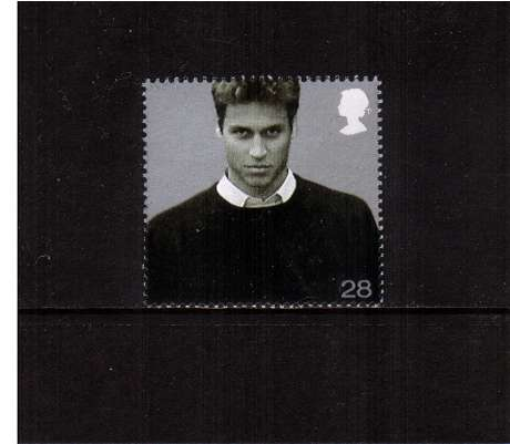 view larger image for SG 2381 (2003) - 28p  - 21st Birthday of Prince William