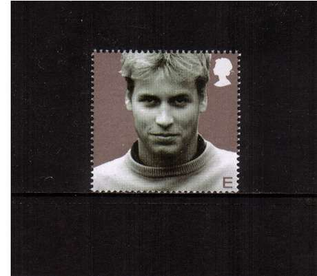 view larger image for SG 2382 (2003) - 'E'  - 21st Birthday of Prince William