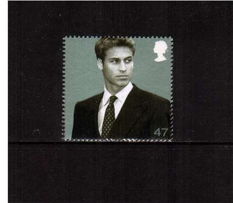 view larger image for SG 2383 (2003) - 47p  - 21st Birthday of Prince William