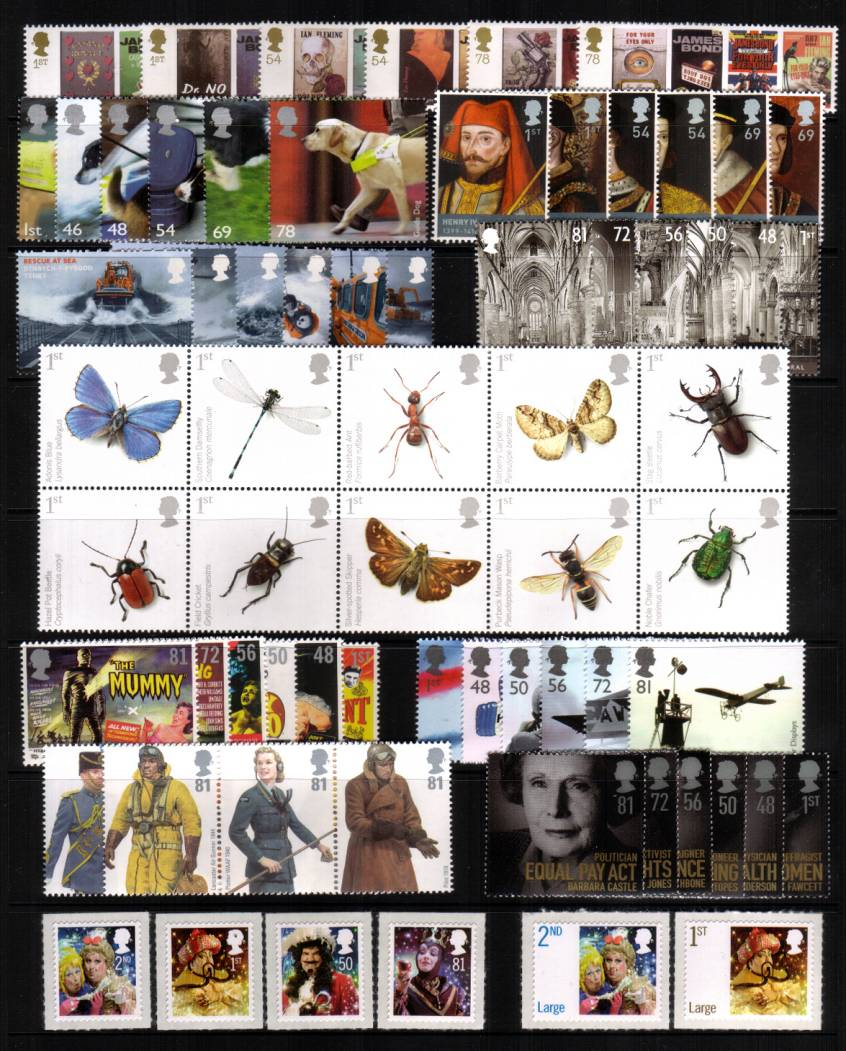 view larger image for Commemorative Year Sets -  (2008) - <br/>12 Sets - 73 stamps