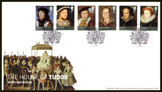 view larger back view image for The House of Tudor set of six
