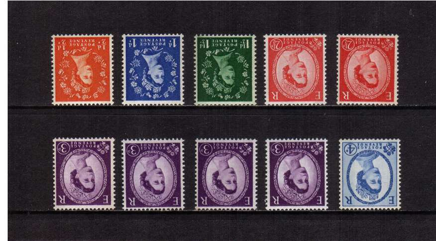 view larger image for SG 610Wi-616awi (1960) - Elizabeth II <br/>Wilding - Multiple Crowns Watermark<br/>