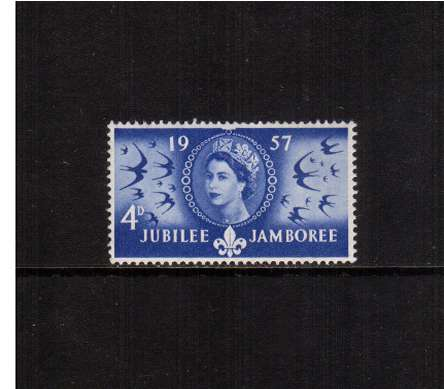 view larger image for SG 558 (1957) - 4d World Scouts Jubilee Jamboree<br/>