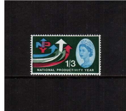 view larger image for SG 633p (1962) - 1/3d  National Productivity Year <br/>