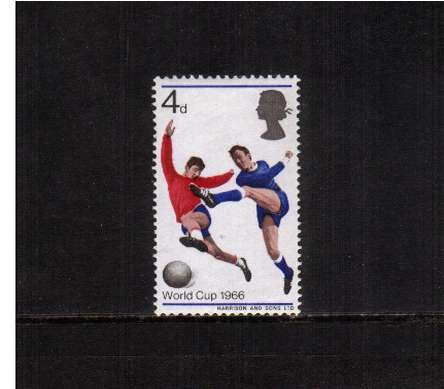 view larger image for SG 693 (1966) - 4d World Cup Football