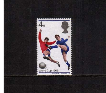 view larger image for SG 693p (1966) - 4d World Cup Football