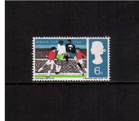 view larger image for SG 694p (1966) - 6d World Cup Football
