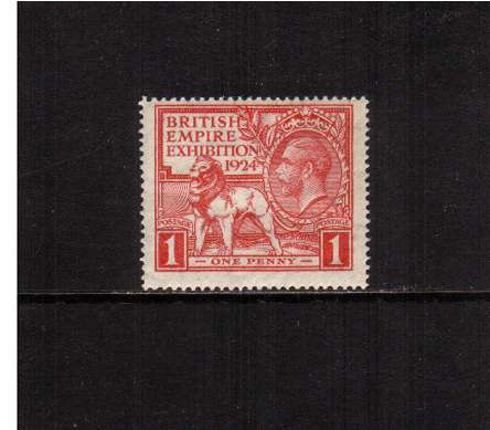 view larger image for SG 430 (1924) - 1d  	'Wembley' British Empire Exhibition