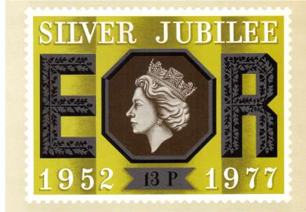view larger image for PHQ No.22 (1977) - Silver Jubilee<br/>Set of five cards