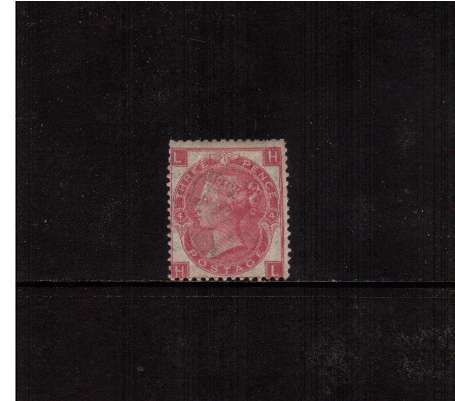 view larger image for SG 103 (1867) - 3d Rose - Watermark Spray of Rose - from Plate 4 lettered 'H-L' in unused condition with some gum. The stamp has several nibbled perforations but is scarce.<br/>