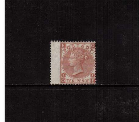 view larger image for SG 113 (1867) - 10d Pale Red Brown - Watermark Spray of Rose - lettered 'O-E'. A fine lightly mounted mint stamp bright and fresh.<br/>