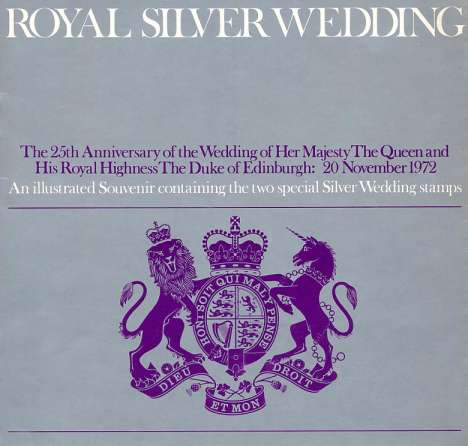 Stamp Image: view larger back view image for Royal Silver Wedding<br/>Large Format Souvenir Pack