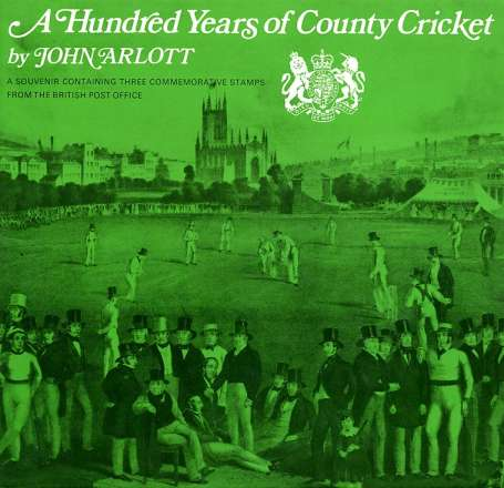 Stamp Image: view larger back view image for County Cricket<br/>Large Format Souvenir Pack