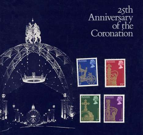 Stamp Image: view larger back view image for Coronation<br/>Large Format Souvenir Pack