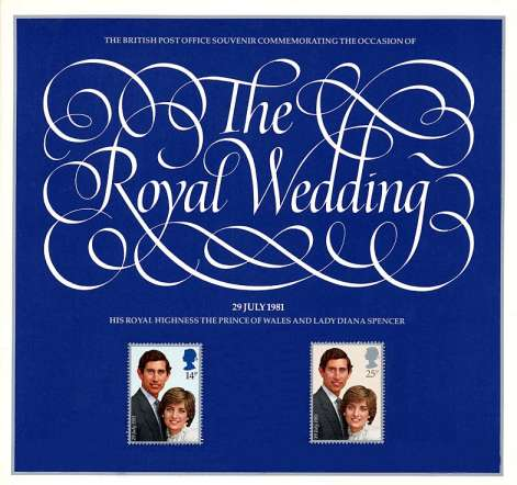Stamp Image: view larger back view image for Charles and Diana Royal Wedding<br/>Large Format Souvenir Pack