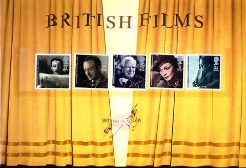 Stamp Image: view larger back view image for British Films<br/>Large Format Souvenir Pack