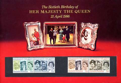 Stamp Image: view larger back view image for Queen's Birthday<br/>Large Format Souvenir Pack