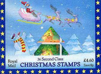 Stamp Image: view larger back view image for Christmas 13px36