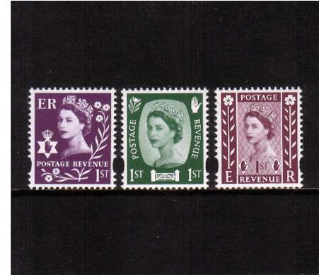 view larger image for SG NI154-NI156 (29 Sept 2008) - 50th Anniversary of Country Definitives<br/>