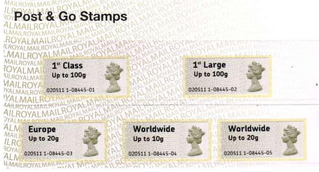 Stamp Image: view larger back view image for ''Post & Go''<br/>Machin Heads