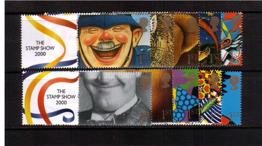view larger image for SG LS1set (2000) - The Stamp Show 2000 set of ten singles (different perforations from boooklet issue)