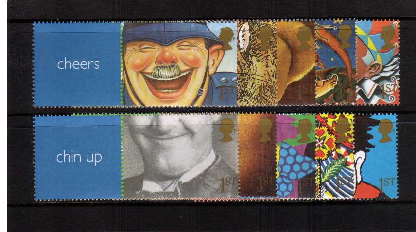 view larger image for SG LS5set (2001) - Smilers - Soild Colour blocks set of singles (different perforation from booklet stamps)